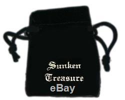 Atocha Bague Monnaie Crâne Argent 925 Sunken Trésor Shipwreck Bijoux