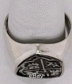 Atocha Monnaie Bague Argent 925 Hommes Sunken Trésor Shipwreck Bijoux Coin