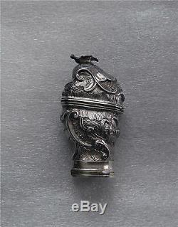 Boîte À Parfums Et À Priser Scandinave En Argent Sterling De 1776 Hovedvannseg Louis XV