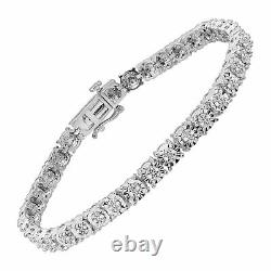 Bracelet De Tennis Diamant 1/4 Ct En Argent Sterling, 7