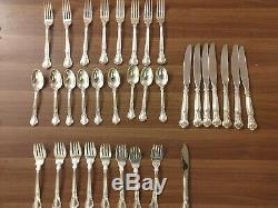 Chantilly Par Gorham Sterling Silver Flatware Set Pour 8 Service 33 Pcs