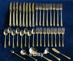 Chateau De Rose Royal Crest Sterling Silver Set Pieces 37 Flatware Non Mono