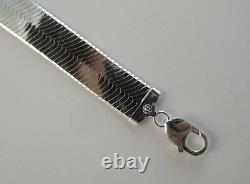 Collier En Os De Hareng De 14 Mm. Sterling Silver 925 Chaîne Italienne 18,20,22,24,30 Pouces