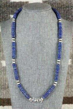Collier Navajo Lapis & Sterling Silver