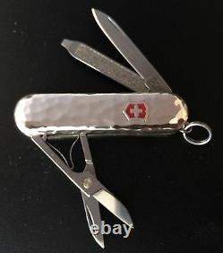 Couteau Suisse De L'armée, Sterling Argent Martelé, Victorinox 53029, New In Box
