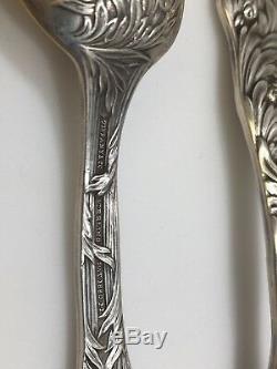 Cuillères À Thé En Argent Sterling Avec Chrysanthèmes De Tiffany & Co. Jusqu'à 12