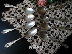 Cuillères À Thé Et Cuillères À Soupe Vintage 8 Sterling Silver