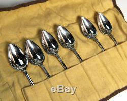 Cuillères À Vaisselle Vintage Tiffany & Co., Cuillères À Soupe Orange En Argent Sterling 925