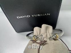 David Yurman Bracelet Femme Boucle Cable Avec De L'argent Sterling Or 925 Nouveau