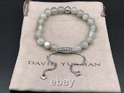 David Yurman Bracelet Perle Spirituelle En Argent Sterling Avec Nwot De Moonstone