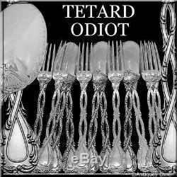 Dessert À Dessert En Argent Sterling Et Tétard Odiot, Set De 12 Pièces, Motif Trianon, 12 Pièces