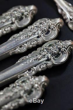 Ensemble De Coutellerie En Argent Sterling 60 Pièces Wallace Grand Baroque, 3 660 Grammes