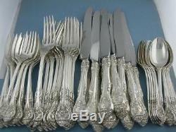 Ensemble De Couverts Sterling Gorham Dinner Size Service Pour 12 King Edward No Mono