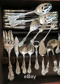 Ensemble De Vaisselle Et Couverts De Table En Argent Sterling De 157 Pièces Reed & Barton Francis I