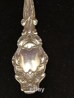 Fourche À Serviette Art Nouveau Argent Antique En Argent Gorham Whiting Lily