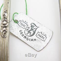 Georgian Trademark Vtg 925 Sterling Silver Lot De 6 Fourchettes À Dessert À Trois Dents