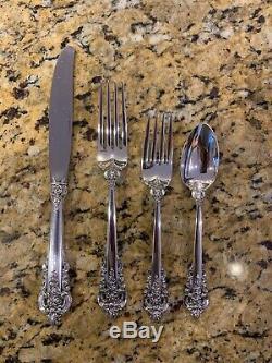Grand Baroque Sterling Silver Set Pour 8 Professionnellement Poli Nouvelle Boîte