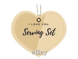 Grande Baroque De Wallace Sterling Silver Je T'aime Servir Set Cadeau Saint-valentin