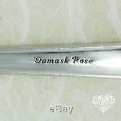 Heirloom Sterling Damask Rose Vintage En Argent Sterling Couverts 217-2