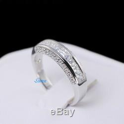 His And Hers 925 En Argent Sterling Princesse De Mariage Bague De Fiançailles Cut Set 4 3/4