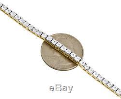 Hommes 1 Ligne Collier Diamant Tennis Lien Choker Chaîne 18 Sterling Silver 1/2 Ct