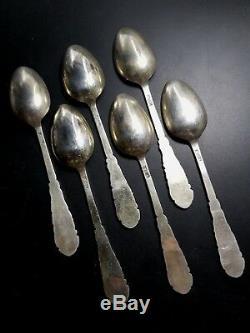 Lot De Cuillères À Café Vintage En Argent Sterling