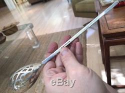 MCM A + Porter Blanchard Martini En Argent Sterling Olive Barware Spoon 11