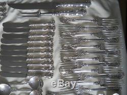 Magnifique Birks Sterling Chantilly 119pc Flatware Silverware Set Pour 12 3474grams