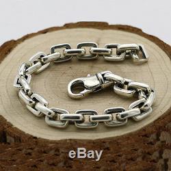 Mens 925 Bracelet En Argent Sterling Lien Classique Boucle Chaîne Bijoux 6.3- 10