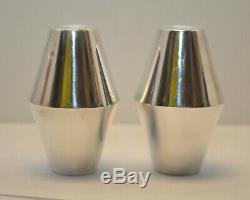 Milieu Du Siècle Moderne Sel Et Poivre En Argent Sterling Gio Ponti Diamond Reed & Barton