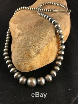 Native American Navajo Perles Diplômé Collier De Perles En Argent Sterling 20 341
