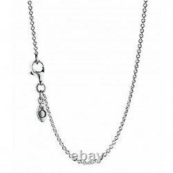 Newithtags Authentique Pandore Silver Collier Sterling Chaîne D'argent #590412-90