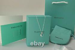 Nouveau Tiffany & Co 18 Sterling Silver Chain Collier Tout Inclus