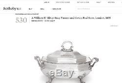 Paul Storr, Antique Anglais, Soupe En Argent Sterling Soupière. Londres 1835. Huppé
