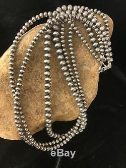 Perles Amérindien En Argent Sterling Navajo Collier 21 3 MM 4,5,6 Str Cadeau