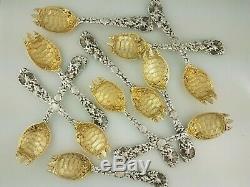 Rare Sterling Gorham Poignée De Coquilles D'algues Terrapin Bol Tortue Fourche 495 $ Chacun