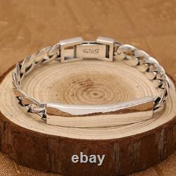 Real 925 Sterling Silver Bracelet Braided Loop Link Glossy Chain