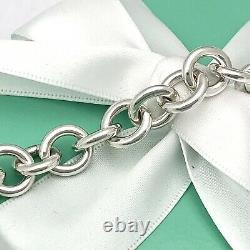 Revenir À Tiffany & Co. Round Tag Bracelet Charm 925 Sterling Silver Authentic