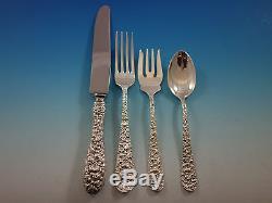 Rose Par Stieff Sterling Silver Set De Couverts Pour 12 Services 118 Pièces Énorme