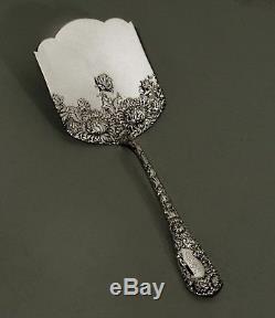 Serveur Pâtissier En Argent Massif Durgin C1895 Chrysanthemum