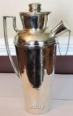 Shaker Américain À Cocktail En Argent Sterling Art Deco Fabriqué À Chicago Aux Etats-unis Par Lebolt