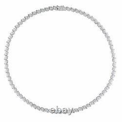 Sterling Argent 1/2 Ct Tw Diamant Tennis Collier Par Amour