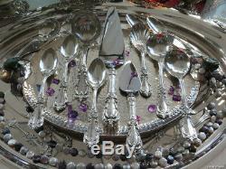 Sterling Silver Reed Barton Bourgogne Service De Couverts Vieux Mark H Serveurs Rares Lourdes