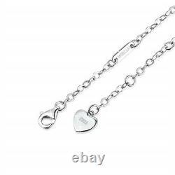 Sterling Silver Réglable Infinity Love Heart Anklets Bracelet Cadeaux De Noël