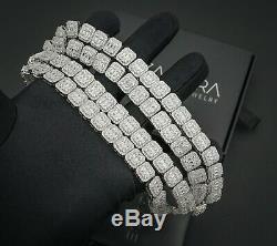 Tennis Bracelet Massif Baguette Argent 925