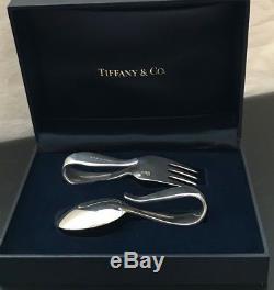 Tiffany & Co. Poignée À Boucle En Argent Sterling Pour Bébé Et Fourchette