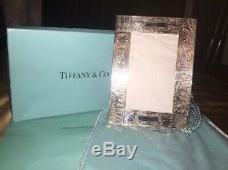 Tiffany & Co. Sterling Silver Childs Record Naissance Cadre Nwt Cadeau Parfait Du Nouveau-né