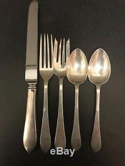 Tiffany Faneuil Sterling Flatware Set Pas Monogram 40 Pièces