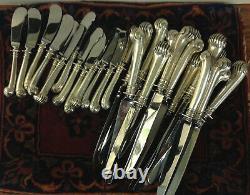 Tuttle En Argent Sterling 90 Pcs Onslow Flatware Service Set Pour 12 + 113ozts + Kniv