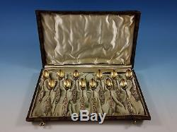 Vine By Tiffany & Co. Cuillères Demitasse En Argent Sterling - Boite Or Roses 12pc